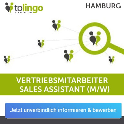 Hamburg Vertriebsmitarbeiter Sales Assistant Mw Tolingo