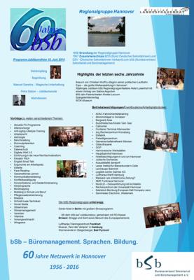 RG Hannover 60 Jahre Programm